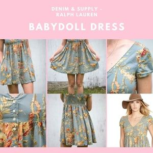 Denim & Supply Floral Babydoll Dress (XS)